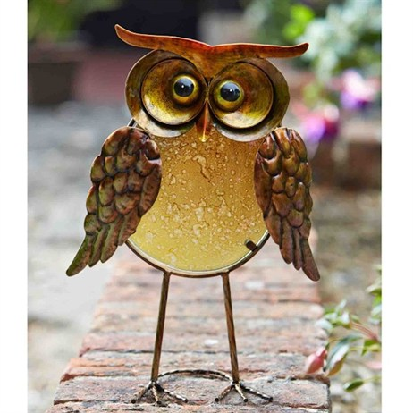 Smart Garden Orla Owl Glass Decor Ornament (5030070)