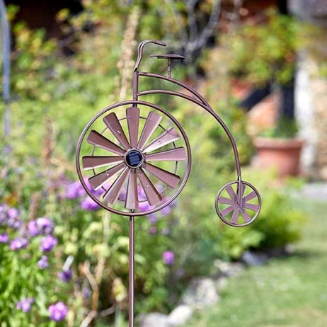 Smart Garden Penny Farthing Wind Spinner With Led Lights (5030231)