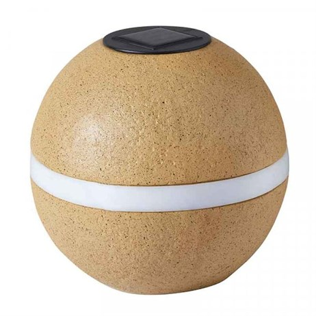 Smart Garden Super Bright Solar Galm Rock Light - Orb Sandstone (1004042)