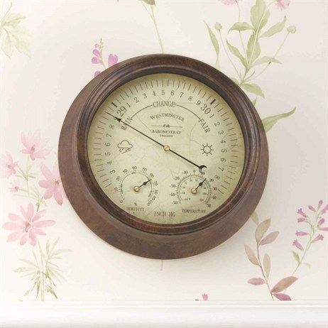 Outside In Westminster Barometer & Thermometer 8 Inch (5062020)