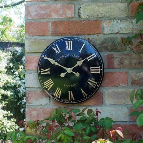 Outside In Westminster Tower Wall Clock 12 Inch Black (5065041)