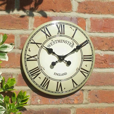 Outside In Westminster Tower Wall Clock 12 Inch Cream (5065043)