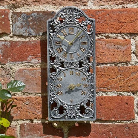 Outside In Westminster Wall Clock & Thermometer (5065000)
