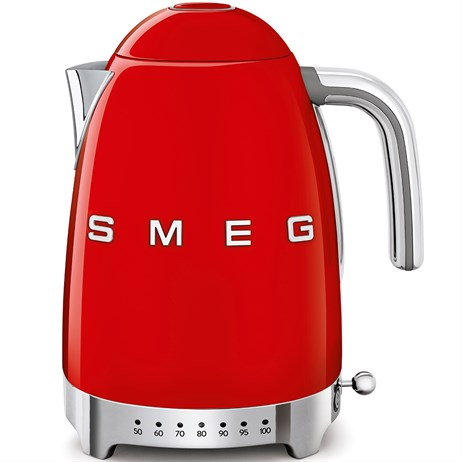 Smeg 50's Retro Style Aesthetic Variable Temperature Kettle - Red (KLF04RDUK)
