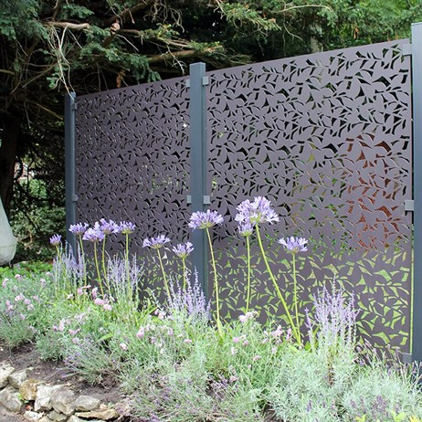 Stark & Greensmith Branches In Powder Coated Aluminium Fence Panel - DIRECT DISPATCH