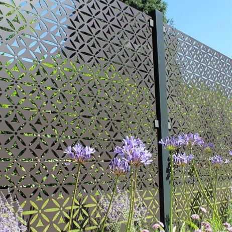 Stark & Greensmith Motif In Powdr Coated Aluminium Fence Panel - DIRECT DISPATCH