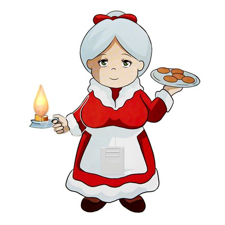 Statix Light Up Mrs Claus Chirstmas Window Sticker - 230 x 195mm (80301)