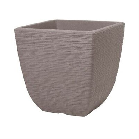 Stewarts Garden Cotswold Square Planter - 38cm - Dark Brown (5141047)