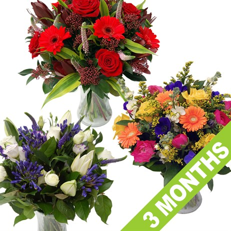 Longacres Fresh Flowers - 3 Month's Subscription