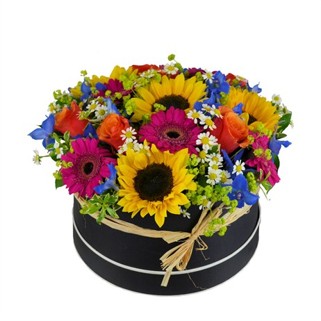 Summer Hat Box Floral Arrangement - Large
