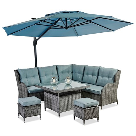Supremo Palermo Corner Modular Dining Set With Footstools (633423)