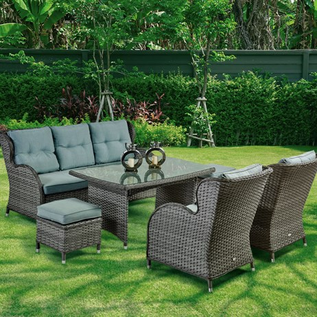 Supremo Palermo Lounge Outdoor Garden Furniture Dining Set (765667)