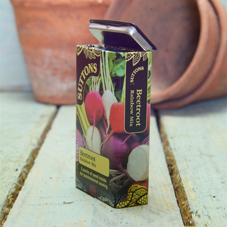 Suttons Seed Tin Beetroot - Rainbow Mix (230013)