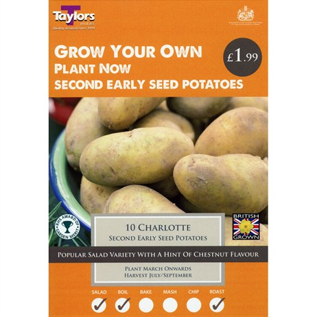 Taylors Bulbs Seed Potatoes Charlotte (10 Pack) (VP440)