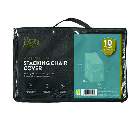 The Garden & Home Co Premium Stacking Chair Cover - Black (36014)