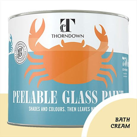 Thorndown Bath Cream Peelable Glass Paint 750ml (PGPBAC750SO)