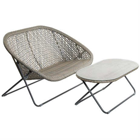 TOBS Two Seater Lounger & Oval Table (24868)