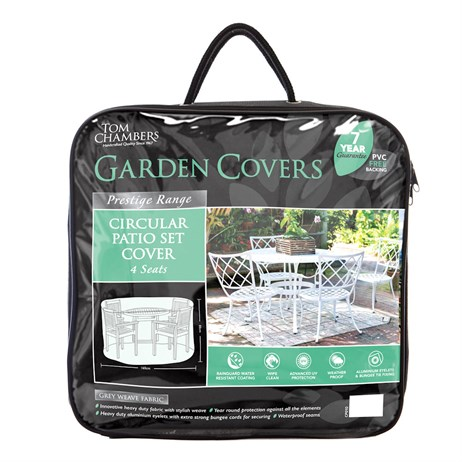 Tom Chambers Circular Patio Set Cover - 4 Seat - Prestige Green (CP210)