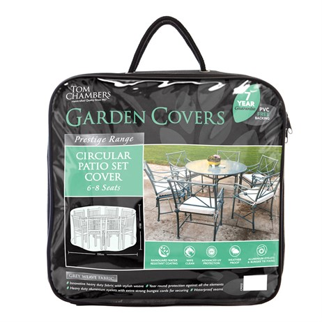 Tom Chambers Circular Patio Set Cover - 6/8 Seat - Prestige Green (CP212)