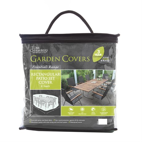 Tom Chambers Rectangular Patio Set Cover - Essential - 8 seat (CE015)