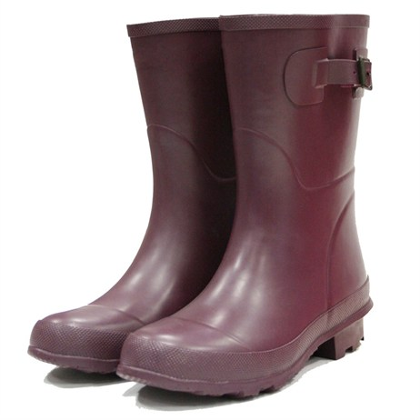 Town and Country Bradgate Short Wellington Boots - Aubergine - 9 (TFW6505)