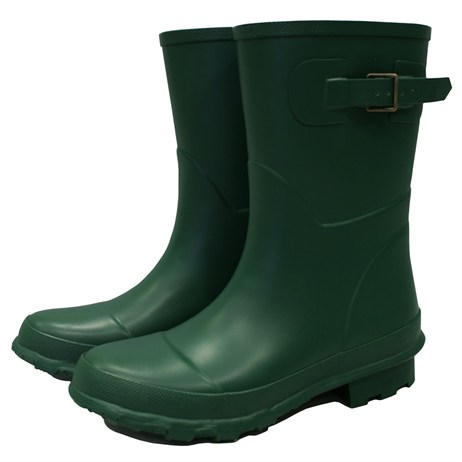 Town and Country Bradgate Short Wellington Boots - Green - 8 (TFW6528)
