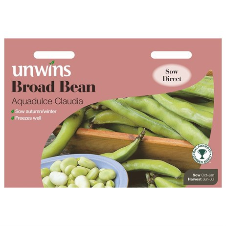 Unwins Seeds Broad Bean Aquadulce Claudia (31210002)