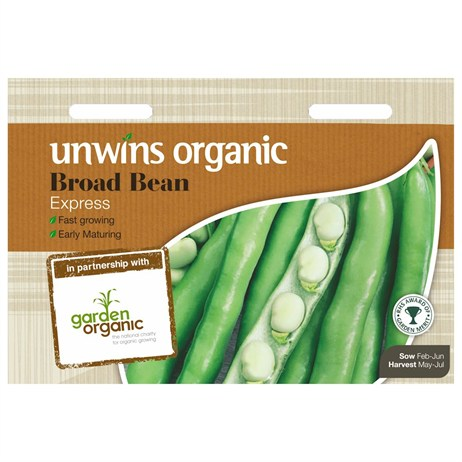 Unwins Seeds Broad Bean Express (Organic) (30610057)