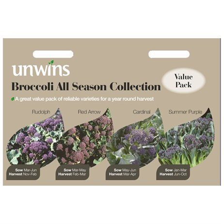 Unwins Seeds Broccoli All Season Collection (30310025)