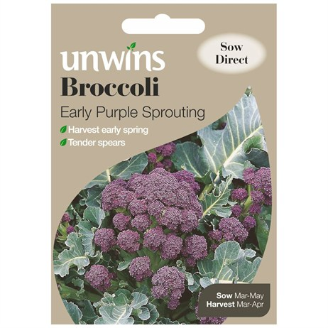 Unwins Seeds Broccoli Early Purple Sprouting (30310018)