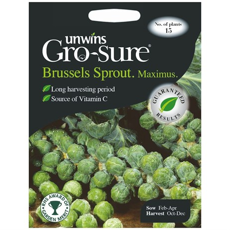 Unwins Seeds Brussels Sprout Maximus F1 (30310032)