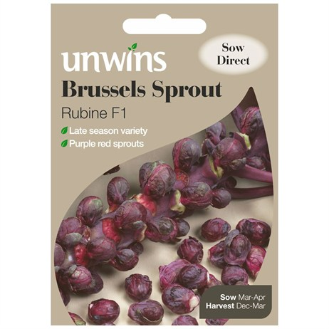Unwins Seeds Brussels Sprout Rubine (30310034) Vegetable Seeds