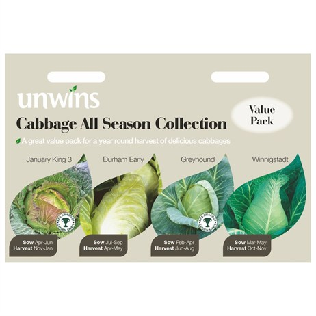 Unwins Seeds Cabbage All Season Collection (30310064)