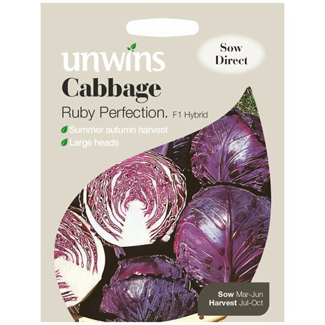 Unwins Seeds Cabbage Ruby Perfection F1 (30310051)