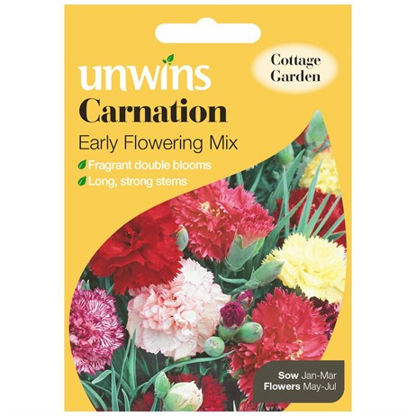 Unwins Seeds Carnation Early Flowering Mix (30210051)