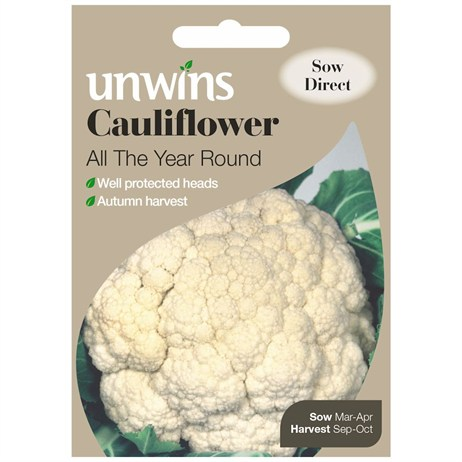 Unwins Seeds Cauliflower All The Year Round (30310083)
