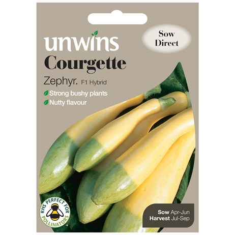 Unwins Seeds Courgette Zephyr (30310501)