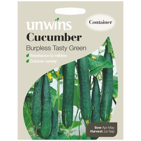 Unwins Seeds Cucumber Burpless Tasty Green (30310106)
