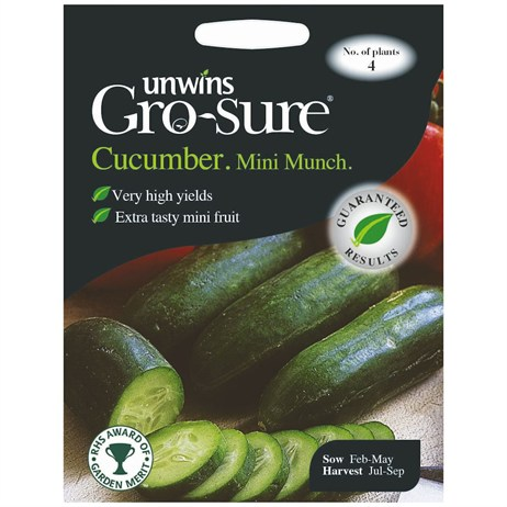 Unwins Seeds Cucumber Mini Munch F1 (30310110)