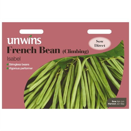 Unwins Seeds French Bean (Climbing) Isabel (31210088)