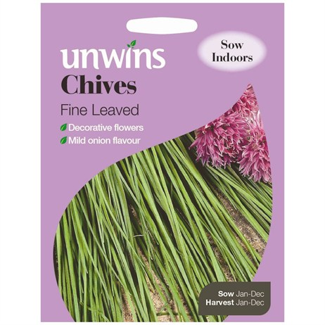 Unwins Seeds Herb Chives Fine Leaved (30410008)