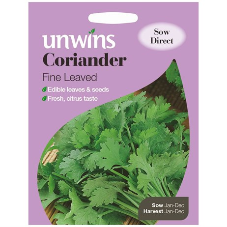 Unwins Seeds Herb Coriander Fine Leaved (30410010)
