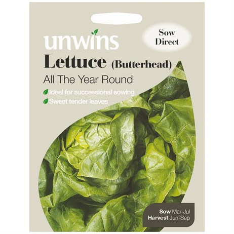 Unwins Seeds Lettuce (Butterhead) All The Year Round (30310130)