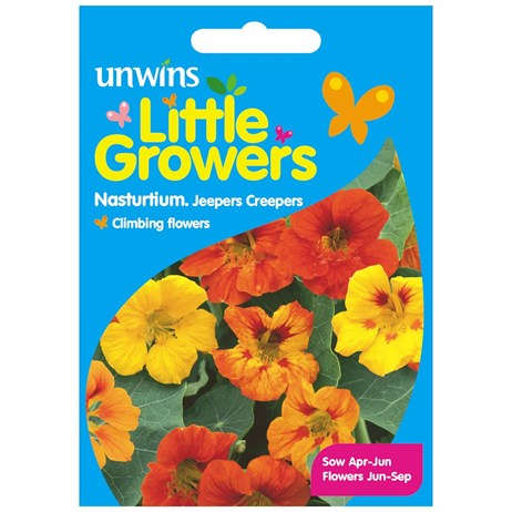 Unwins Seeds Little Growers Nasturtium Jeepers Creepers (30510013) Seeds for Kids