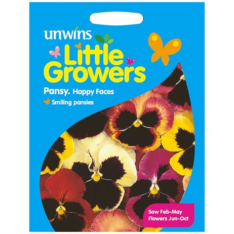 Unwins Seeds Little Growers Pansy Happy Faces (30510015) Seeds for Kids