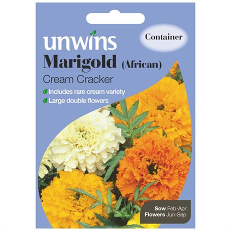 Unwins Seeds Marigold African Cream Cracker (30210128)