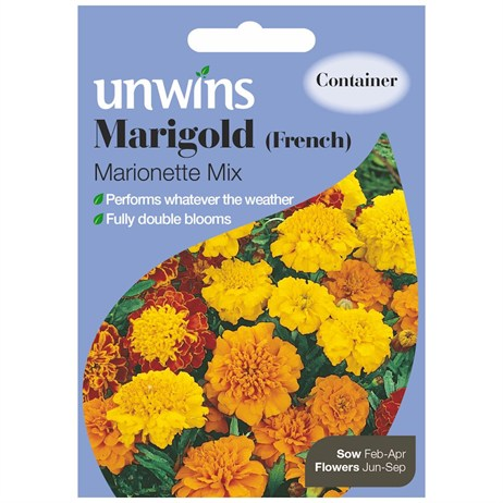 Unwins Seeds Marigold French Marionette Mix (30210129)