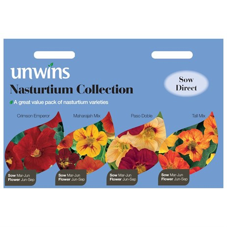 Unwins Seeds Nasturtium 4 In 1 Collection (30210569)