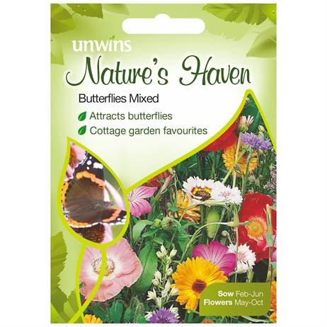 Unwins Seeds Natures Haven Butterflies Mixed (30210392)