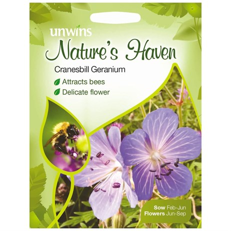 Unwins Seeds Natures Haven Cranesbill Geranium (30210289)